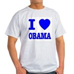I Love Obama Patriotic Blue Light T-Shirt