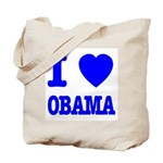 I Love Obama Patriotic Blue Tote Bag