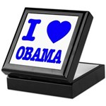 I Love Obama Patriotic Blue Keepsake Box