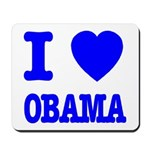 I Love Obama Patriotic Blue Mousepad