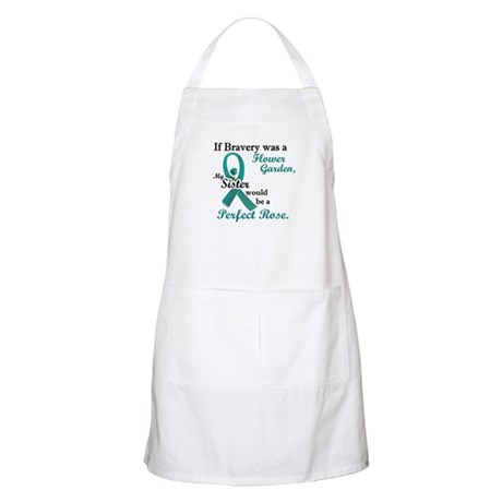 Flower Garden 1 Teal (Sister) BBQ Apron