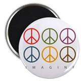 Imagine - Six Signs of Peace Magnet