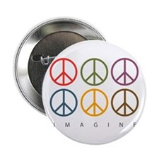 "Imagine - Six Signs of Peace 2.25"" Button"