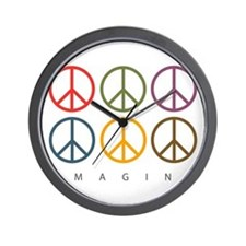 Imagine - Six Signs of Peace Wall Clock