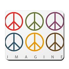 Imagine - Six Signs of Peace Mousepad