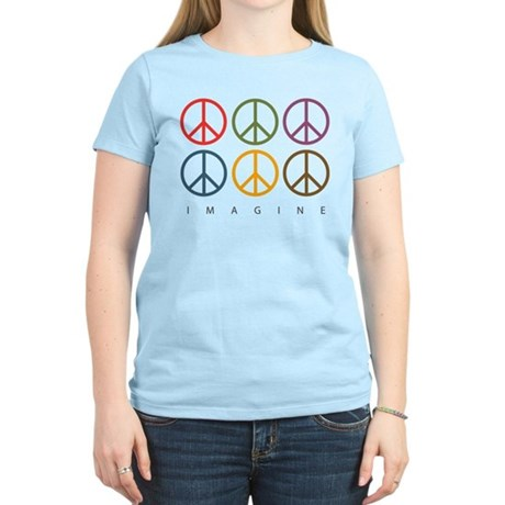 Imagine - Six Signs of Peace Women's Light T-Shirt