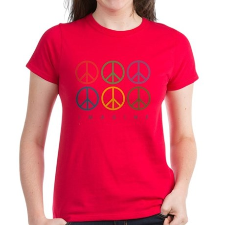 Imagine - Six Signs of Peace Women's Dark T-Shirt