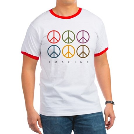 Imagine - Six Signs of Peace Ringer T