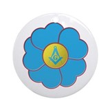 Masonic Forget Me Not Ornament (Round)