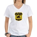 VA Beach Mounted PD Women's V-Neck T-Shirt