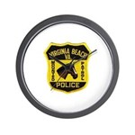 VA Beach Mounted PD Wall Clock