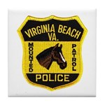 VA Beach Mounted PD Tile Coaster