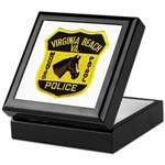 VA Beach Mounted PD Keepsake Box