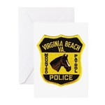VA Beach Mounted PD Greeting Cards (Pk of 20)