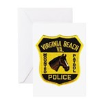 VA Beach Mounted PD Greeting Card
