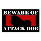 Beware of Attack Dog Bolognese Decal