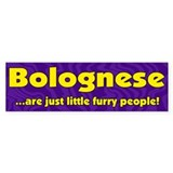 Furry People Bolognese Bumper Bumper Sticker