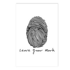Leave your Mark - Black Postcards (Package of 8)