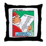 Feline Santa Throw Pillow