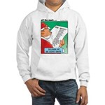 Feline Santa Hooded Sweatshirt