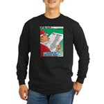 Feline Santa Long Sleeve Dark T-Shirt