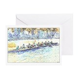 Crew rowing Greeting Cards
