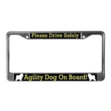 Bolognese Agility Dog License Plate Frame