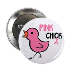 """Pink Chick 1 2.25"""" Button"""