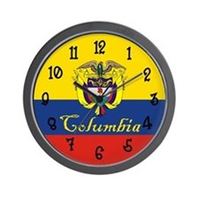 Columbia Flag Wall Clock