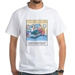 Lap Bottom Computer White T-Shirt