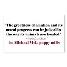 Animals Quote Rectangle Decal