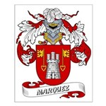 Marquez Family Crest Small Poster