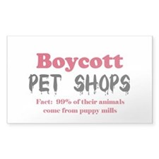 Boycott Pet Shops Rectangle Decal