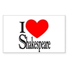 I Love Shakespeare Rectangle Sticker 50 pk)
