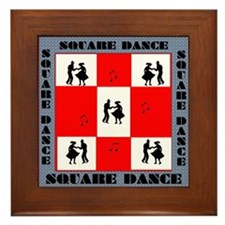 square dancing square Framed Tile