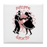square dancers Tile Coaster