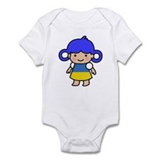 Ukraine Flag Girl Infant Bodysuit