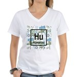 HUMANIST RETRO Women's V-Neck T-Shirt