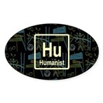 HUMANIST RETRO DARK Oval Sticker (10 pk)
