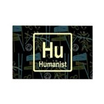 HUMANIST RETRO DARK Rectangle Magnet (100 pack)