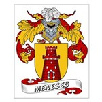 Meneses Family Crest Small Poster