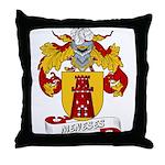 Meneses Family Crest Throw Pillow