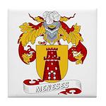Meneses Family Crest Tile Coaster