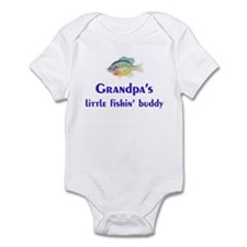 grandpa's fishin buddy Infant Bodysuit