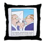Receding Gum Comb-over Throw Pillow