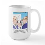 Receding Gum Comb-over Large Mug