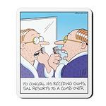 Receding Gum Comb-over Mousepad