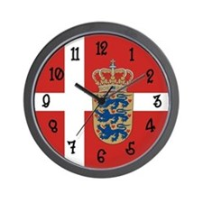 Danish Flag Wall Clock