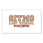Gitmo Law School - Rectangle Sticker