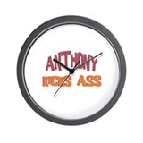 Anthony Kicks Ass Wall Clock